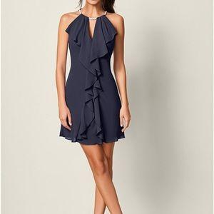 Navy embellished Venus dress